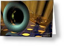 Tuba Goes Disco Greeting Card