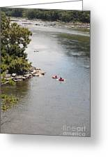 Tubing On The Potomac River At Harpers Ferry Greeting Card