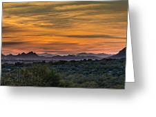 Tucson At Sunset Greeting Card