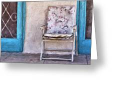 Tucson Front Porch Painterly Effect Greeting Card