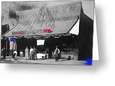 Tucson Gas And Electric Company In Tucson C. 1913 The Year Villa Visited Tucson -2010 Greeting Card