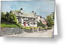 Tudor Cottage Cheshire England Greeting Card