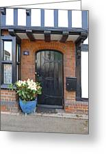 Tudor Cottage Doorway Greeting Card