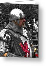 Tudor Knight In Armor  V1 Greeting Card
