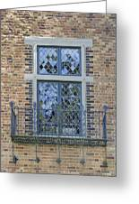 Tudor Style Windows With Balcony Greeting Card