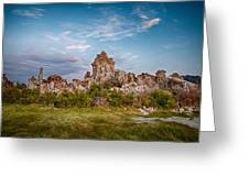 Tufa And Clouds Greeting Card