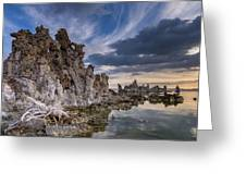 Tufas And Clouds Greeting Card