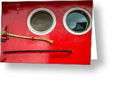 Tug Boat Eyes Greeting Card