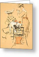 Tug Of War Greeting Card by Cecil Charles Windsor Aldin