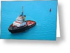 Tugboat At The Ready Greeting Card