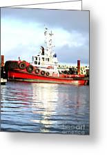 Tugboat Captain Greeting Card