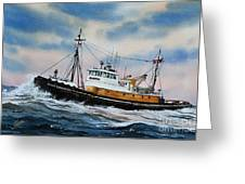 Tugboat Island Commander Greeting Card
