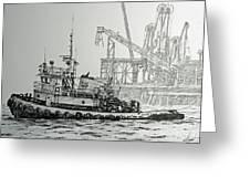 Tugboat Martha Foss Greeting Card