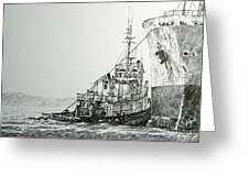 Tugboat Richard Foss Greeting Card