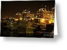 Tugboats 1st Night Dec 2013 Greeting Card