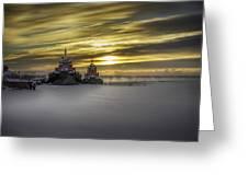 Tugs On Ice Greeting Card