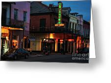 Tujagues At Night In New Orleans Greeting Card