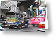 Tuk Tuk - City Life - Bangkok Thailand - 01131 Greeting Card by DC Photographer