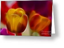 Tulip-7016-fractal Greeting Card