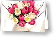 Tulip Blooms Greeting Card by Debra  Miller