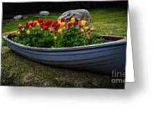 Tulip Boat Greeting Card