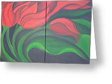 Tulip Diptych Greeting Card