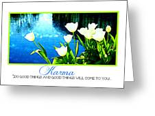 Tulip Karma Greeting Card