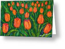 Tulip Twirl Greeting Card