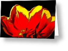 Tulip Underside Greeting Card