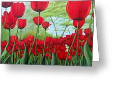 Tulipanes  Greeting Card