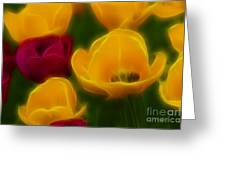 Tulips-6758-fractal Greeting Card
