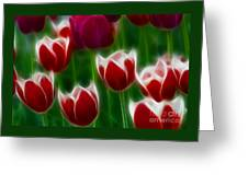 Tulips-6823-fractal Greeting Card