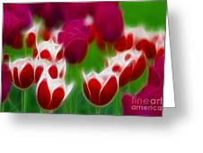 Tulips-6848-fractal Greeting Card