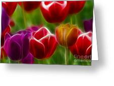 Tulips-7022-fractal Greeting Card