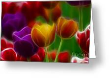 Tulips-7060-fractal Greeting Card