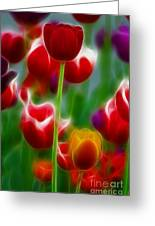 Tulips-7069-fractal Greeting Card