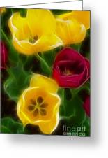 Tulips-7082-fractal Greeting Card