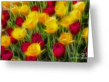 Tulips-7106-fractal Greeting Card