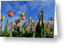Tulips Abound Greeting Card