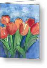 Tulips After The Rain Greeting Card