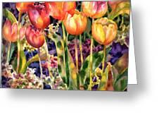 Tulips Greeting Card by Ann  Nicholson