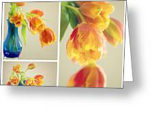 Tulips Collage Greeting Card