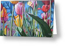 Tulips For You Greeting Card by Andrei Attila Mezei