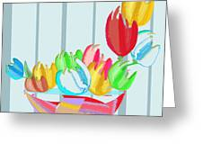 Tulips In A Bowl Greeting Card