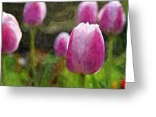 Tulips In Digital Watercolor Greeting Card