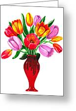 Tulips In The Vase Greeting Card