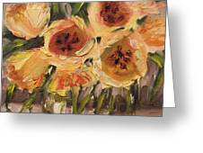 Tulips In Yellow By Alabama Artist Angela Sullivan Greeting Card