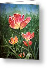 Tulips On Fire Greeting Card