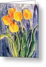Tulips Greeting Card by Sherry Harradence