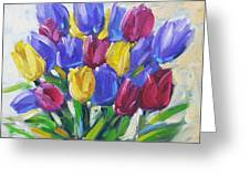 Tulips Time Love The Spring By Prankearts Greeting Card